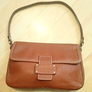 Kste Spade front flap leather shoulder bag